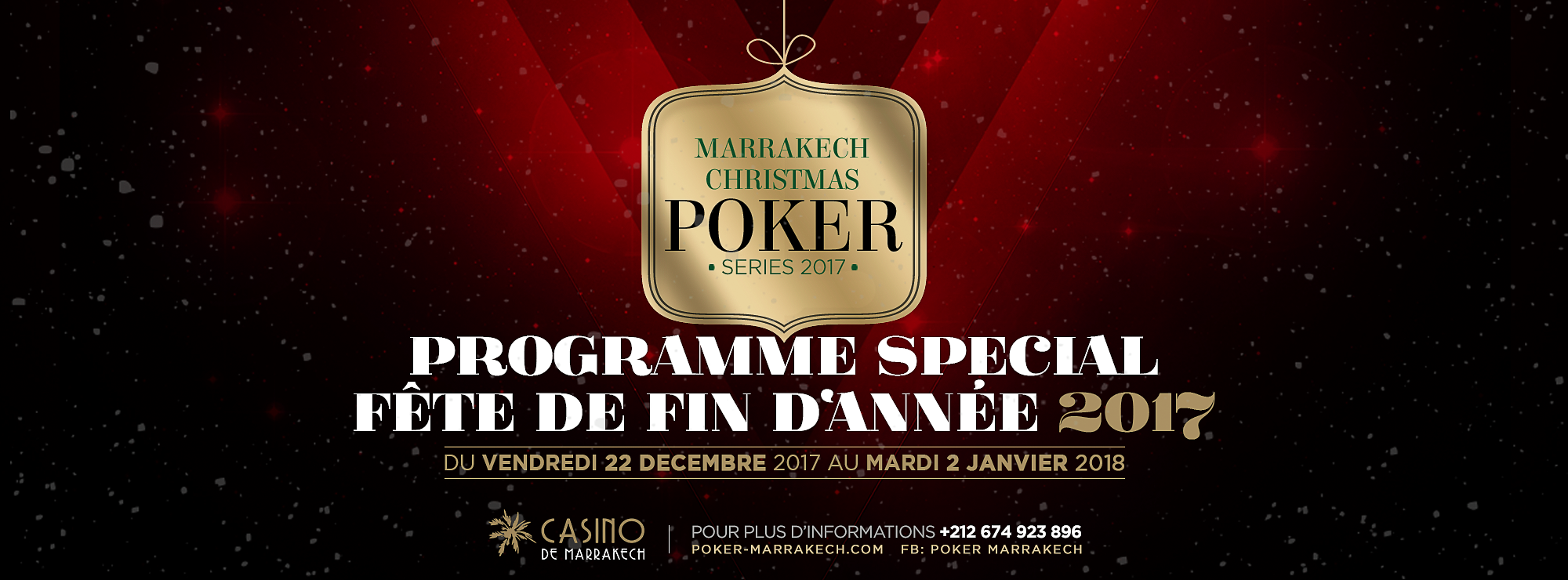 MARRAKECH CHRISTMAS POKER 2017