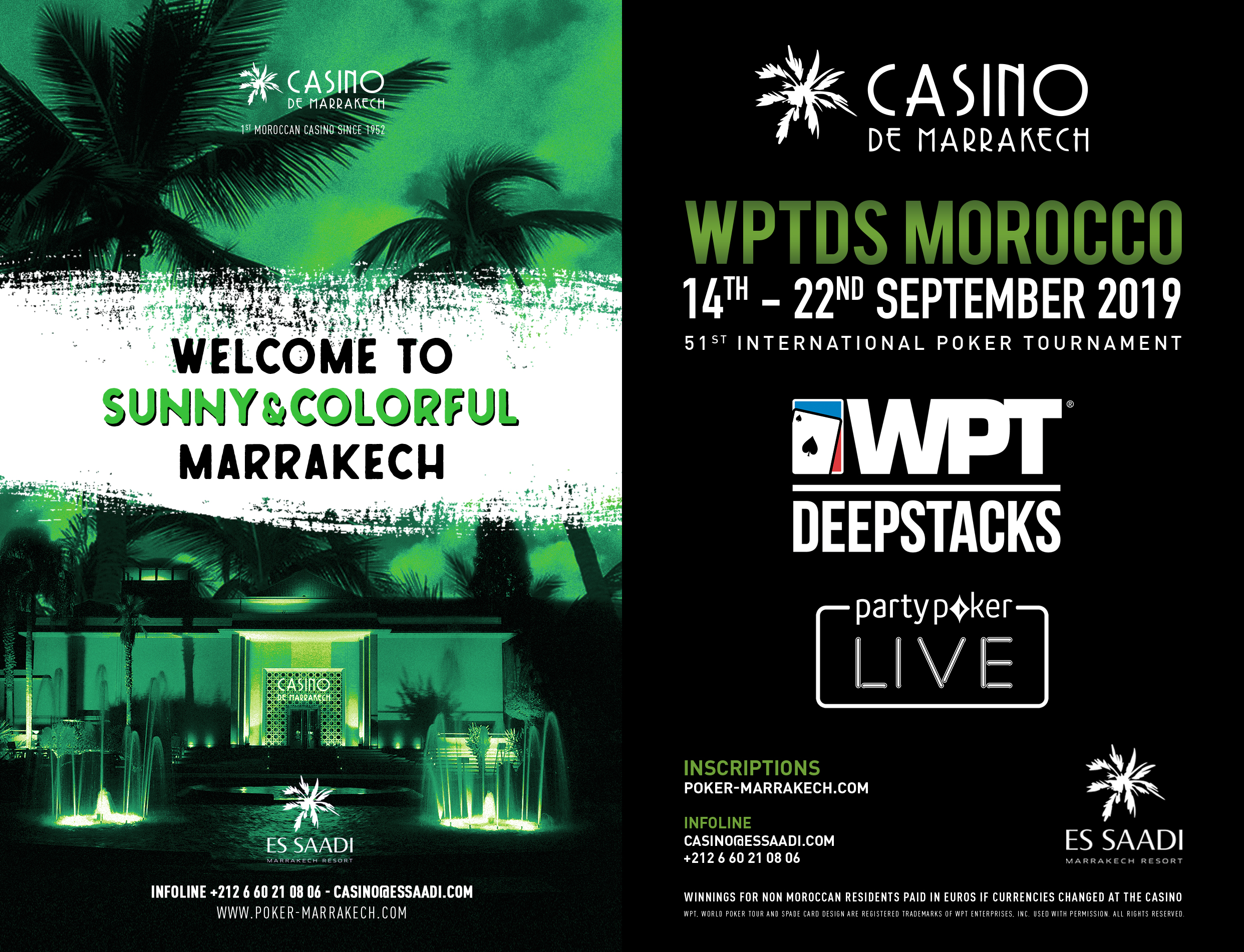 WPTDS MARRAKECH 2019 – 51st international poker tournamen