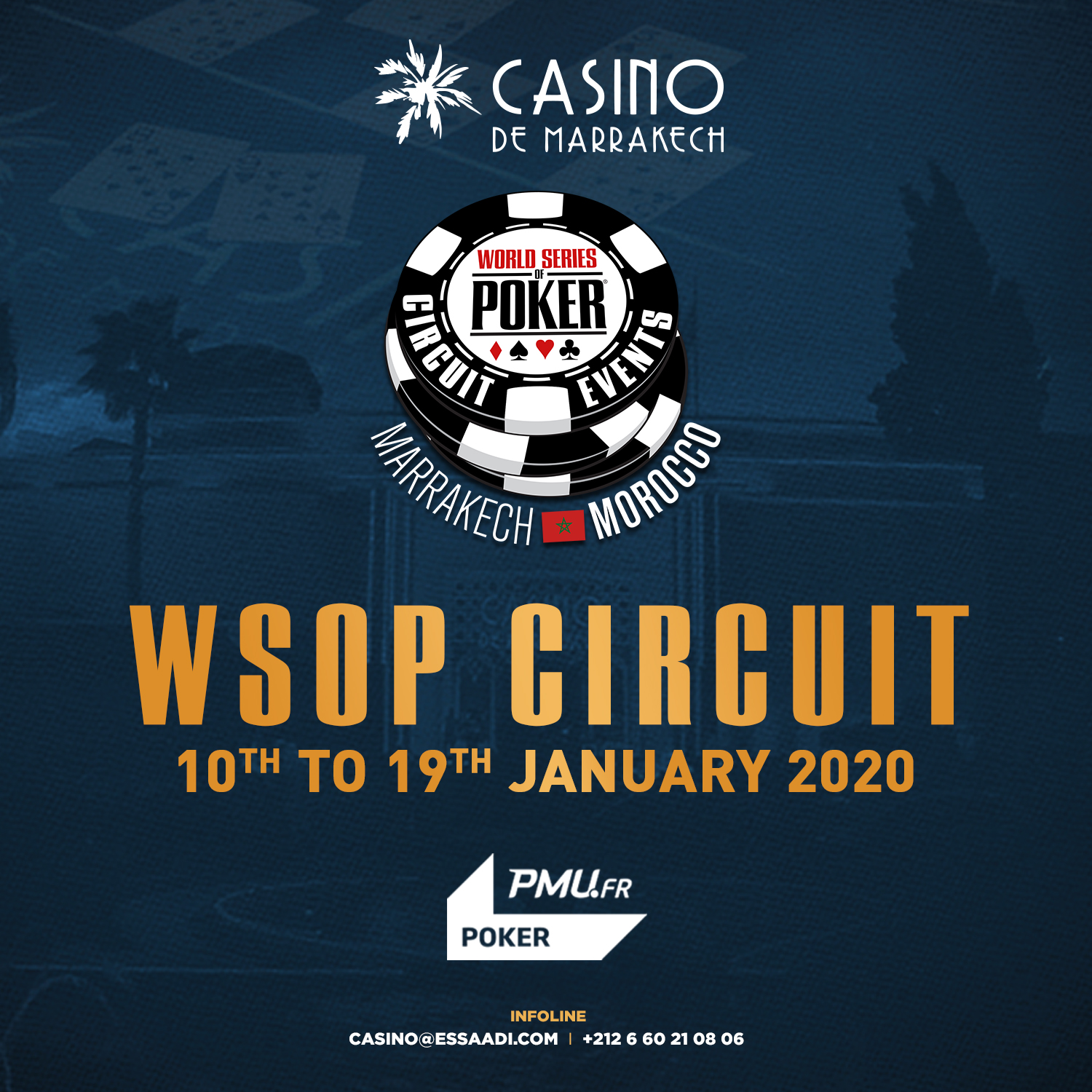 WSOP Circuit Marrakech – 52ème tournoi international